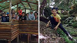 Architetti e Trapper nella foresta